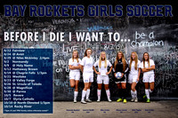 Bay Girls Soccer Poster